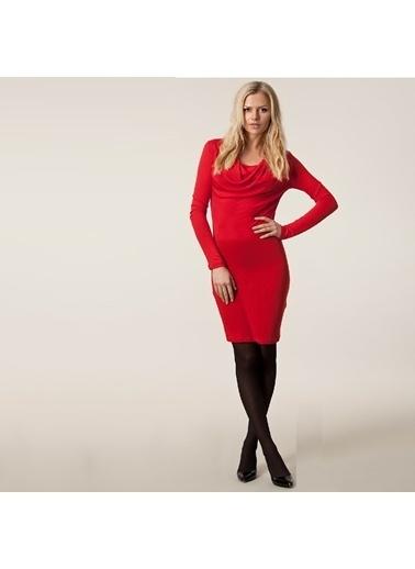 Simms Hamile Elbisesi Kırmızı
